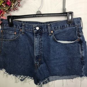 Levi Strauss 550 distressed women's shorts